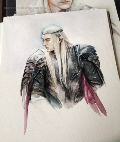 thranduil_watercolour_by_bbwynter-d9y6f7u